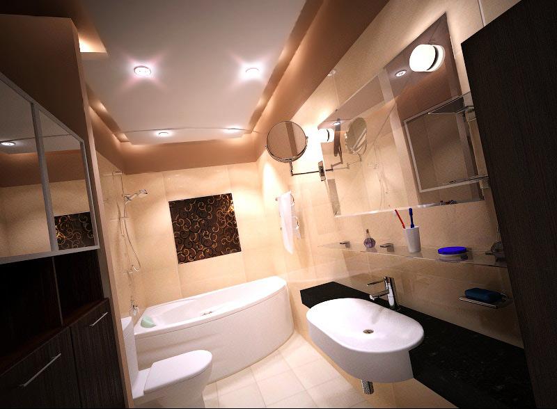 Дизайн-проект ванной в Москве