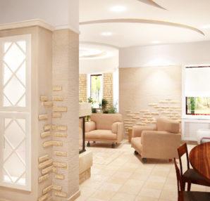 Дизайн-проект дома в Москве. Гостиная-столовая. zdes-design.ru