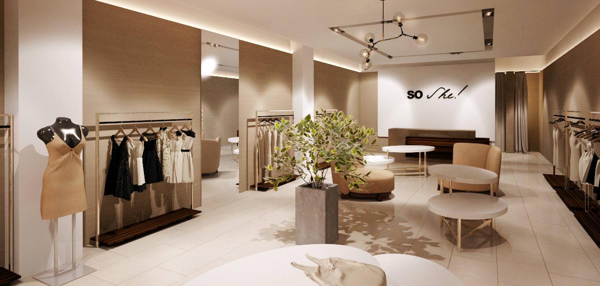 дизайн-проект магазина женской одежды в Омске. zdes-design.ru